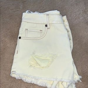 Yellow brandy Melville shorts